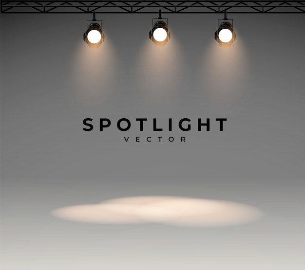 Projecteurs à lumière blanche brillante, ensemble de scène brillant projecteur à effet lumineux, de projecteur pour éclairage de studio