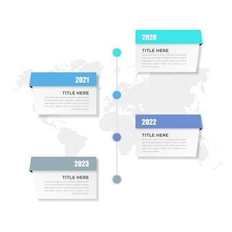 Projet commercial d'élément infographique chronologique