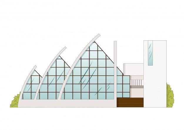 Projet de construction d'architecture vectorielle