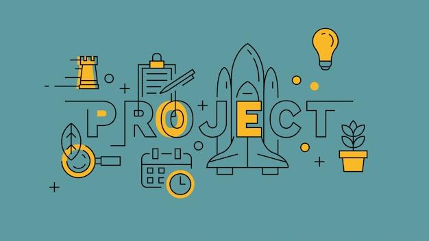Projet orange dans blue line design