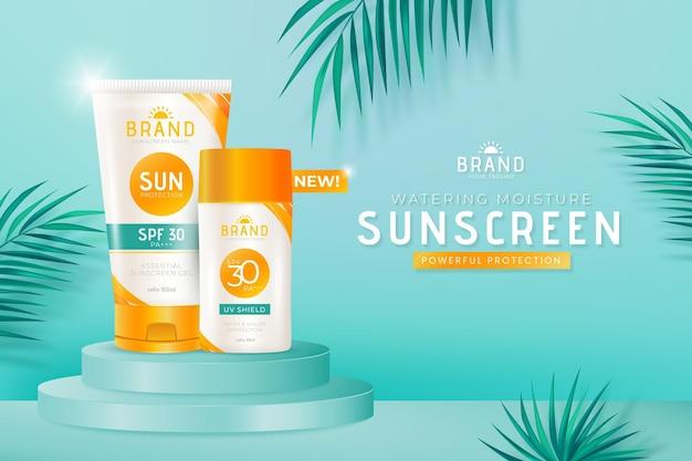Promo détaillée sur la bouteille de crème solaire