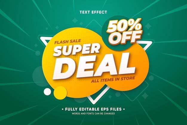 Promo de vente avec des formes abstraites