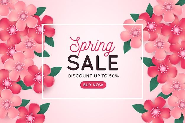 Promo de vente de printemps réaliste