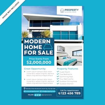 Promotion d'affiches de maison moderne à vendre dans un style design plat