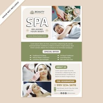 Promotion d'affiches de spa de beauté dans un style design plat