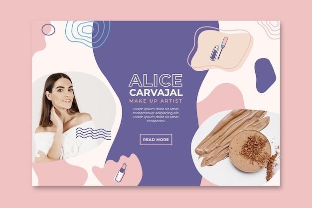 Promotion de bannière cosmétique
