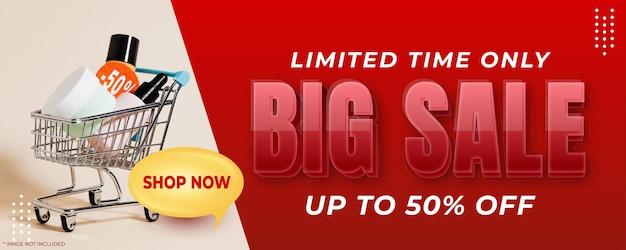 Promotion de bannière verticale de grande vente pour promouvoir votre entreprise