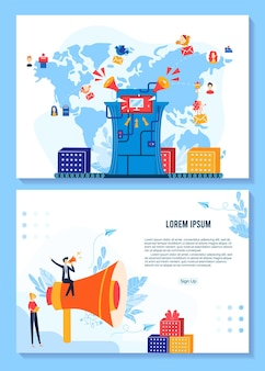 Promotion, conception de bannières de super vente pour illustration marketing de magasin.