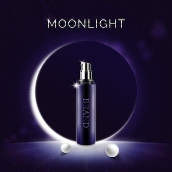 Promotion du produit hydratant cosmétique moonlight
