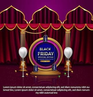Promotion du vendredi noir de luxe offre spéciale up