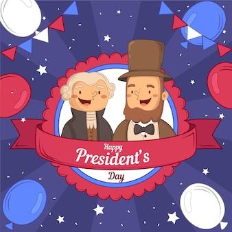 Promotion de l'événement de la journée du président avec d'anciens présidents