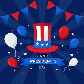 Promotion de l'événement de la journée du président avec chapeau