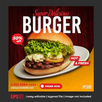 Promotion des hamburgers sur les médias sociaux