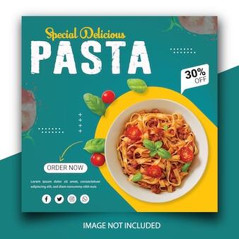 Promotion des médias sociaux alimentaires et modèle de publication de bannière