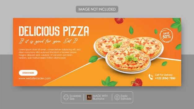Promotion des médias sociaux de la pizza et modèle de conception instagram