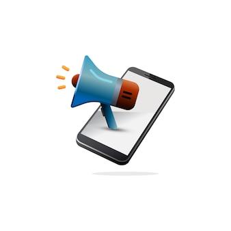 Promotion mobile isométrique