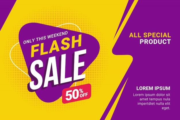 Promotion de modèle de bannière de vente flash discount