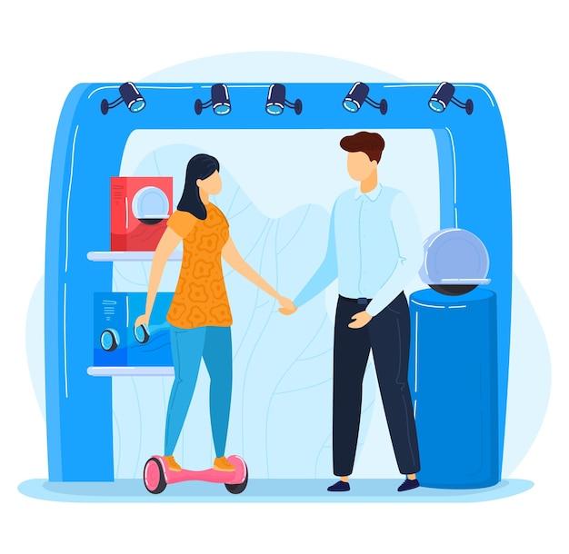 Promotion publicité stand hoverboard publicité