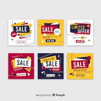Promotion square banner collectio