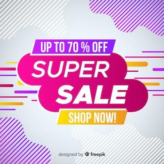 Promotion de super vente abstraite