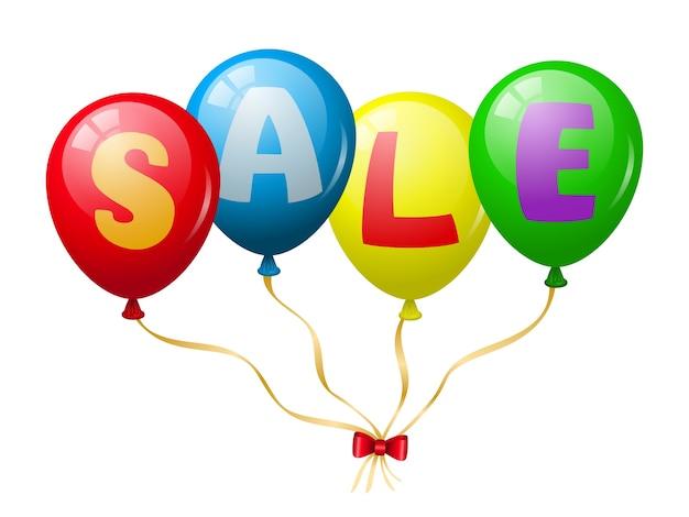Promotion de vente de ballons colorés