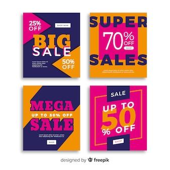 Promotion de vente bannière pack de médias sociaux