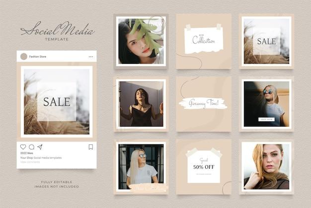 Promotion de vente de mode de blog de modèle de médias sociaux