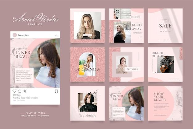 Promotion de vente de mode de blog de modèle de médias sociaux.
