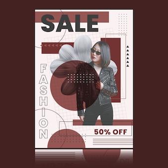 Promotion de vente de mode avec remise