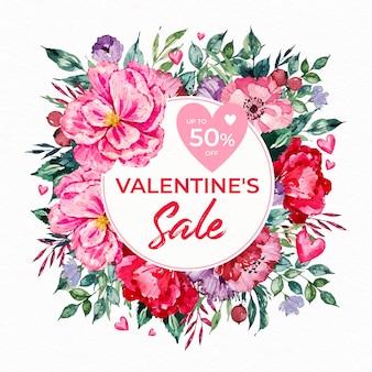 Promotion des ventes pour l'événement de la saint-valentin