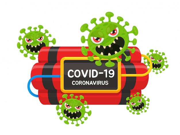 La propagation du virus corona est comme une bombe à retardement qui compte le temps de détruire les humains.