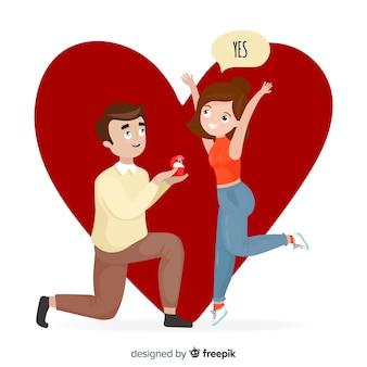 Proposition et amour backgroud