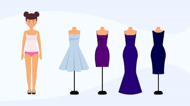 Propositions de code vestimentaire de personnage de dessin animé féminin