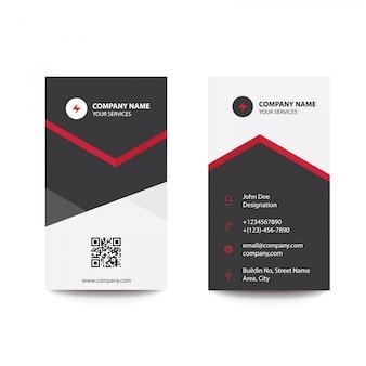 Propre minimal noir et rouge carte de visite d'affaires