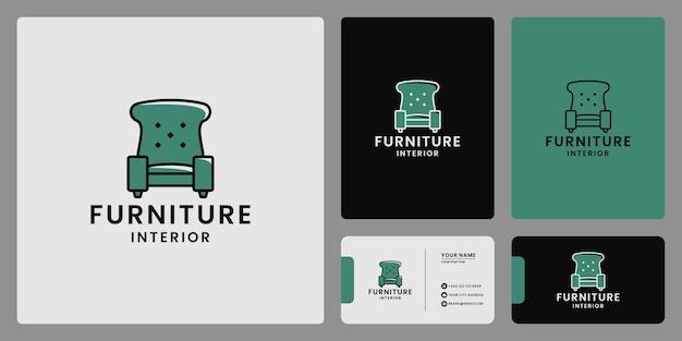 Propriété intérieure de conception de logo de meubles de sofa