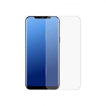 Protecteur d'écran smartphone réaliste