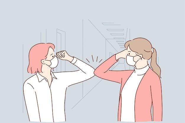 Protection contre la pandémie covid-19, soins de santé et travail pendant le concept d'épidémie