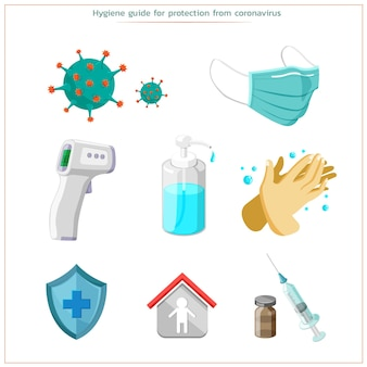 Protection contre le virus corona en prenant soin de votre santé et en la gardant propre. fort et sain