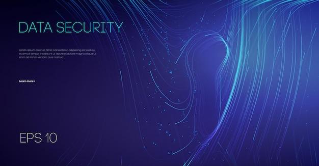 Protection des données de courrier électronique en nuage de travail d'équipe informatique. verrou de protection de sécurité réseau. cybersécurité des technologies de l'information.