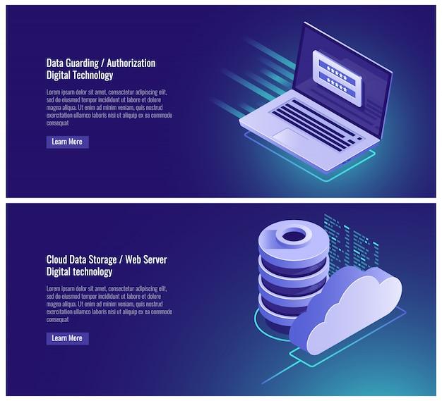 Protection des données, formulaire d'autorisation, mot de passe et entrée de connexion, page d'inscription