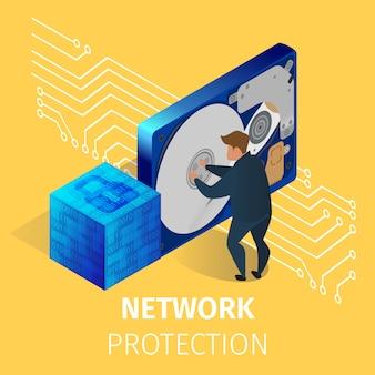 Protection du matériel informatique dans la salle des serveurs