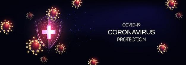 Protection futuriste du système immunitaire contre le concept de la maladie du coronavirus covid-19