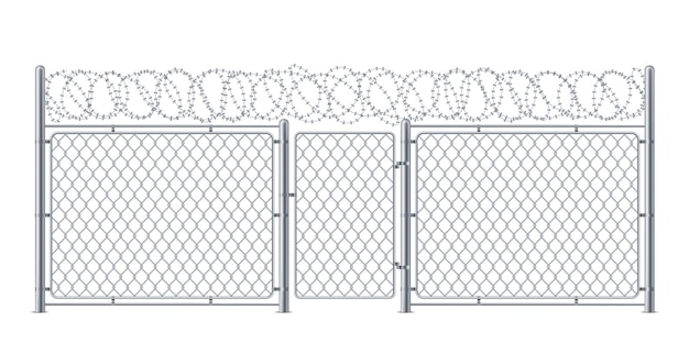 Protection de grillage ou de maillon de chaîne avec construction de maillon de porte ou de guichet pour la police ou la prison
