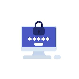 Protection par mot de passe, accès à l'icône de l'ordinateur