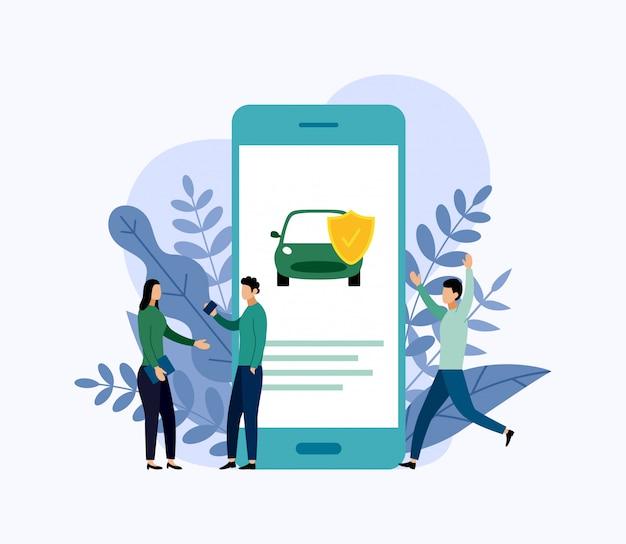 Protection de voiture, concept d'entreprise