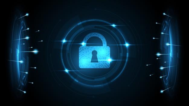 Protégé garde bouclier concept de sécurité sécurité cyber numérique abstrait technologie fond