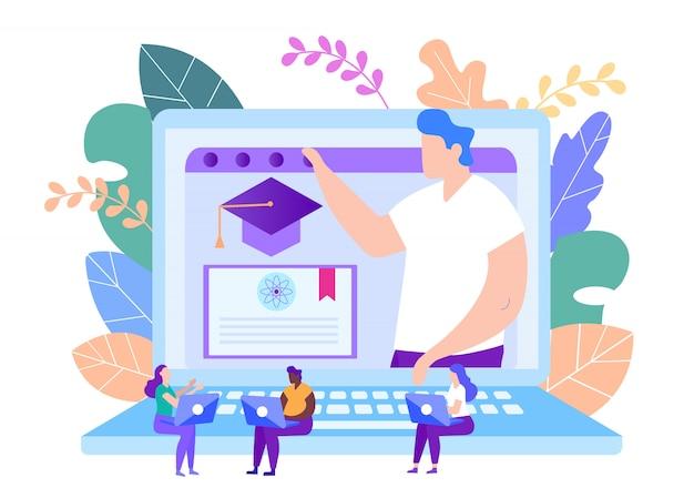 Protéger le diplôme en ligne d'enseignement à distance. leçon en ligne. e-learning. la formation en ligne.