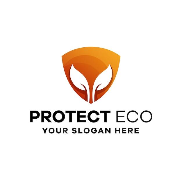 Protéger le modèle de logo de dégradé écologique