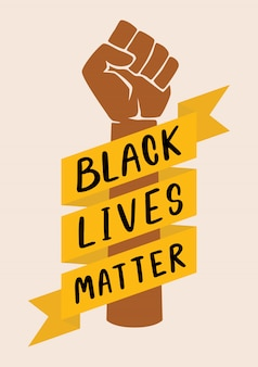 Protestation noire avec le message