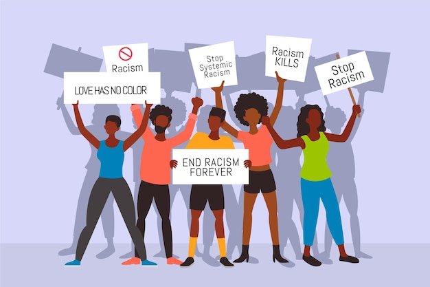 Protester contre le racisme